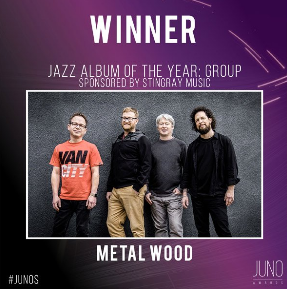 Metalwood Takes the JUNO for Jazz Album of the Year