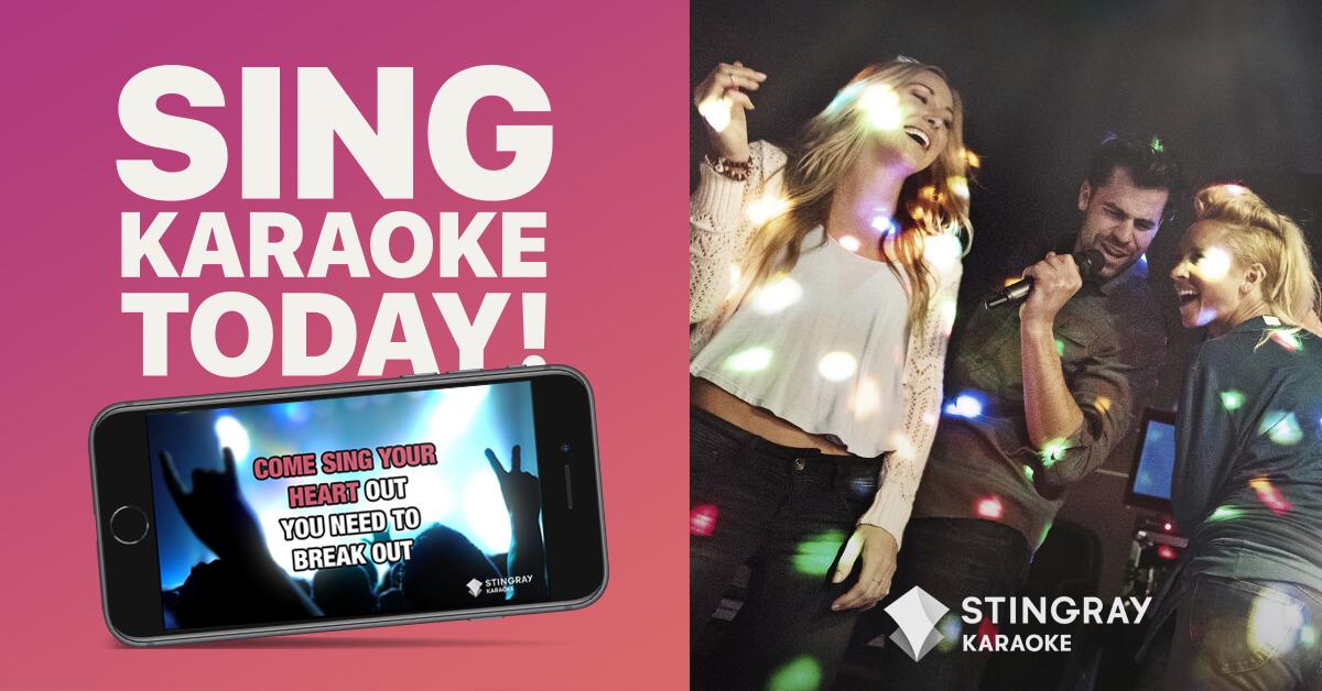 The all-new Stingray Karaoke mobile app