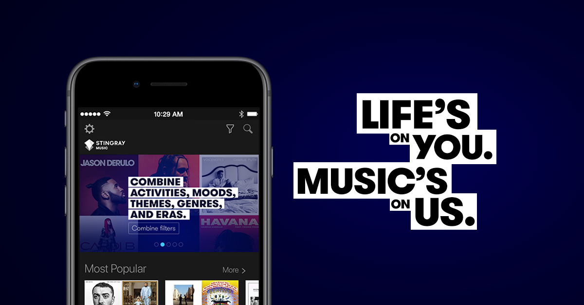 The Stingray Music mobile app revamp   Products