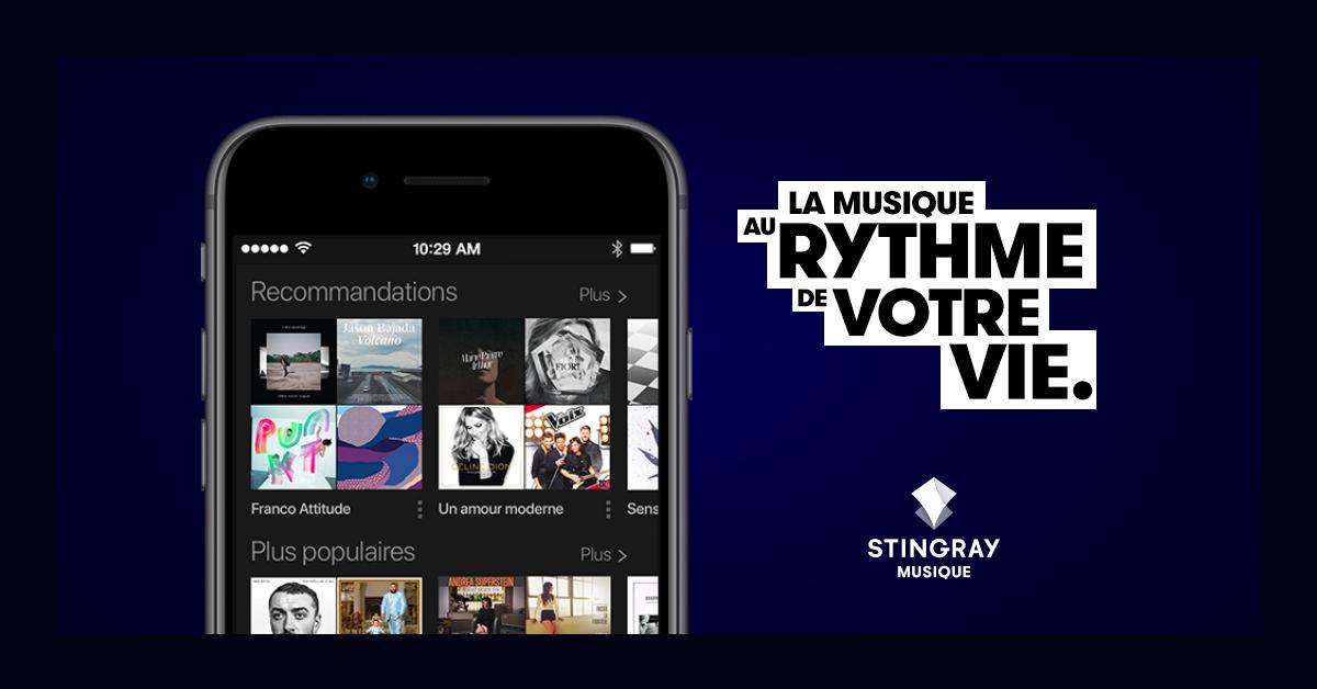 L'appli mobile Stingray Musique nouvellement revampée | Produits
