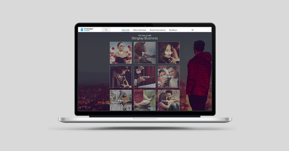 The Stingray web player for Business
