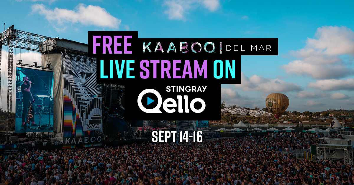 KABOO live stream on Stingray Qello