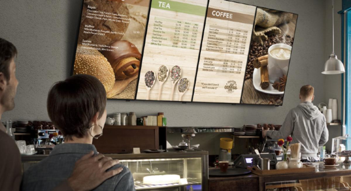 Digital Signage in a Cafe