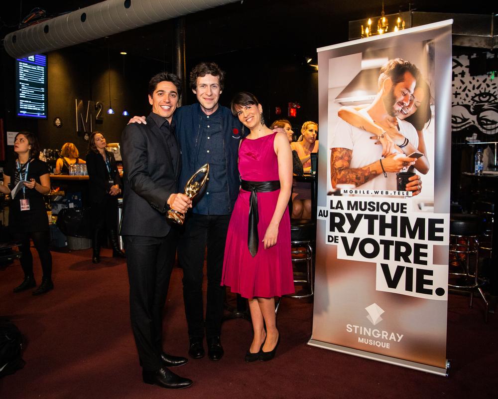Yan England, Patrice Michaud et Ariane Charbonneau