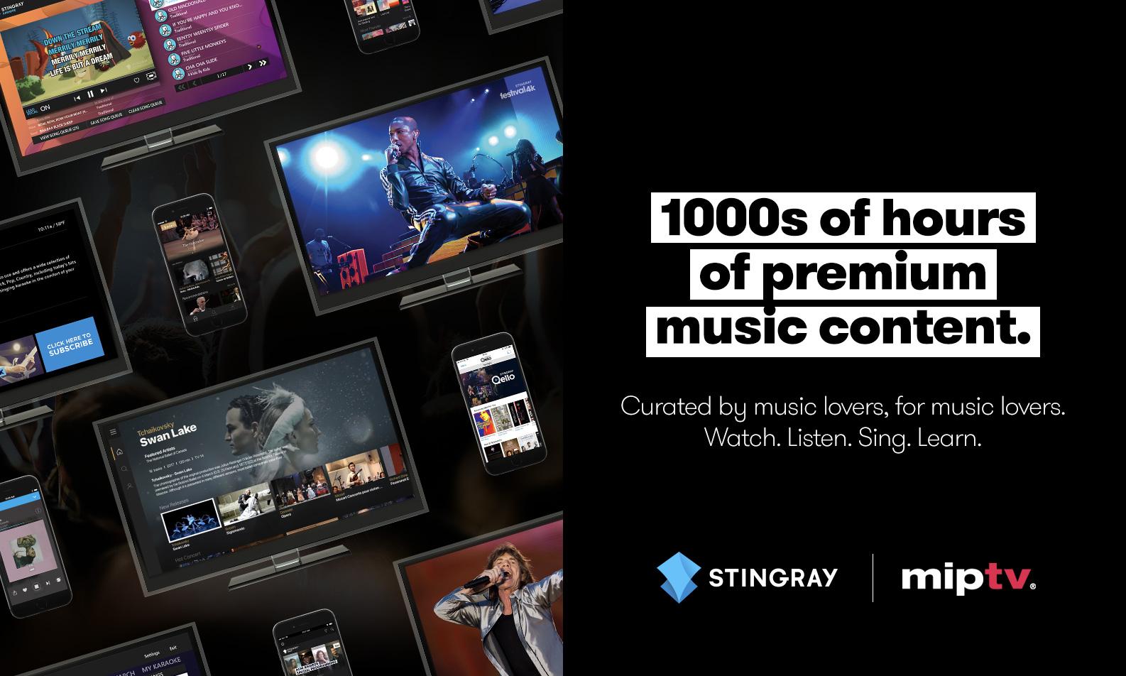 Meet Stingray at MIPTV 2019