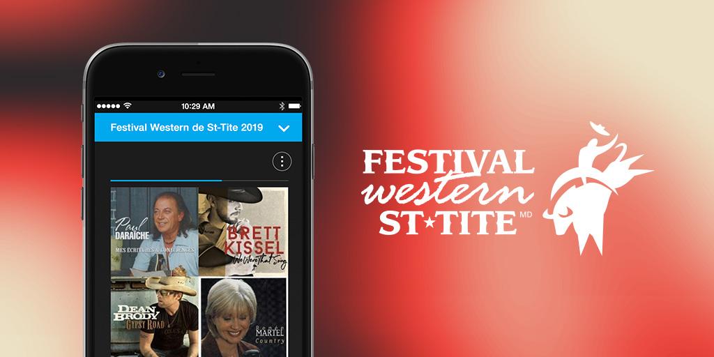 Écoutez la chaine du festival western de st tite
