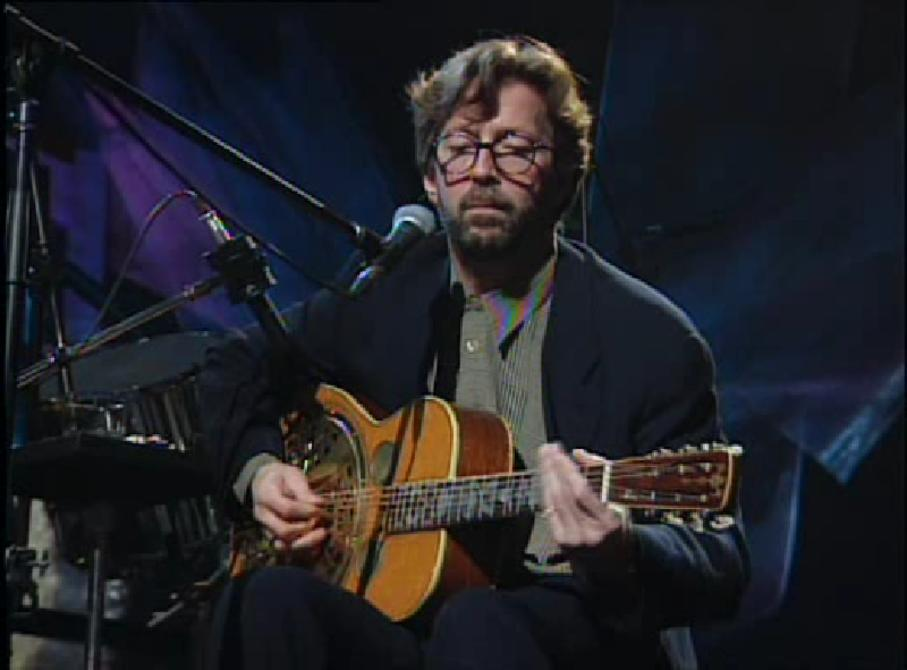 Eric Clapton performing for MTV Unplugged