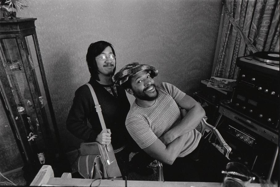 Ben Fong-Torres with Marvin Gaye