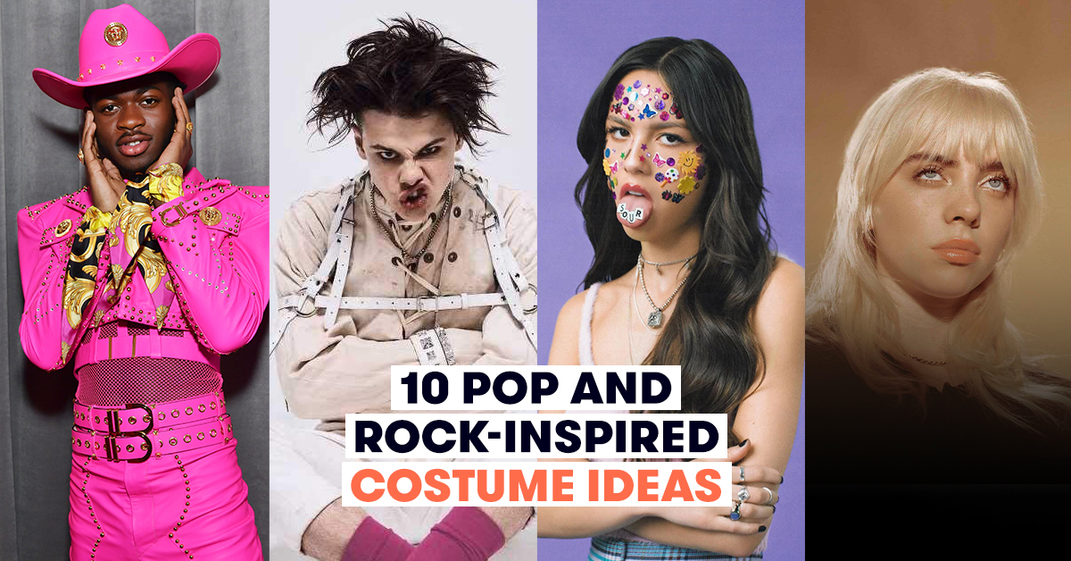 rock and pop inspired costumes