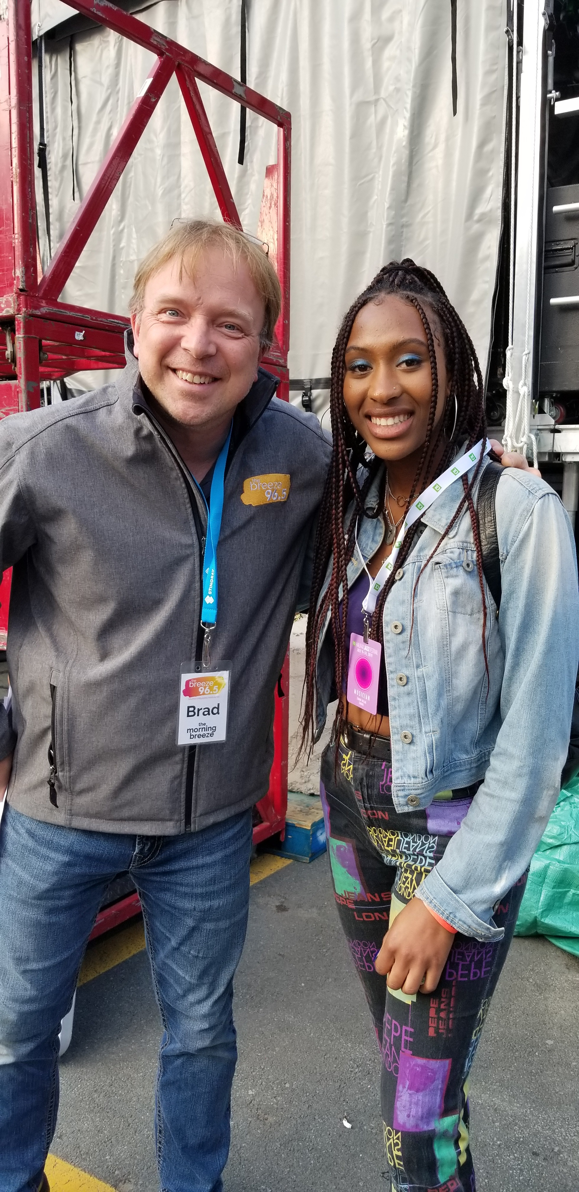 Brad Dryden (96.5 The Breeze) & Zamani (Stingray Rising Stars winner)
