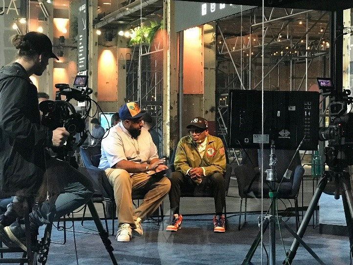 Stingray team interviewing Spike Lee