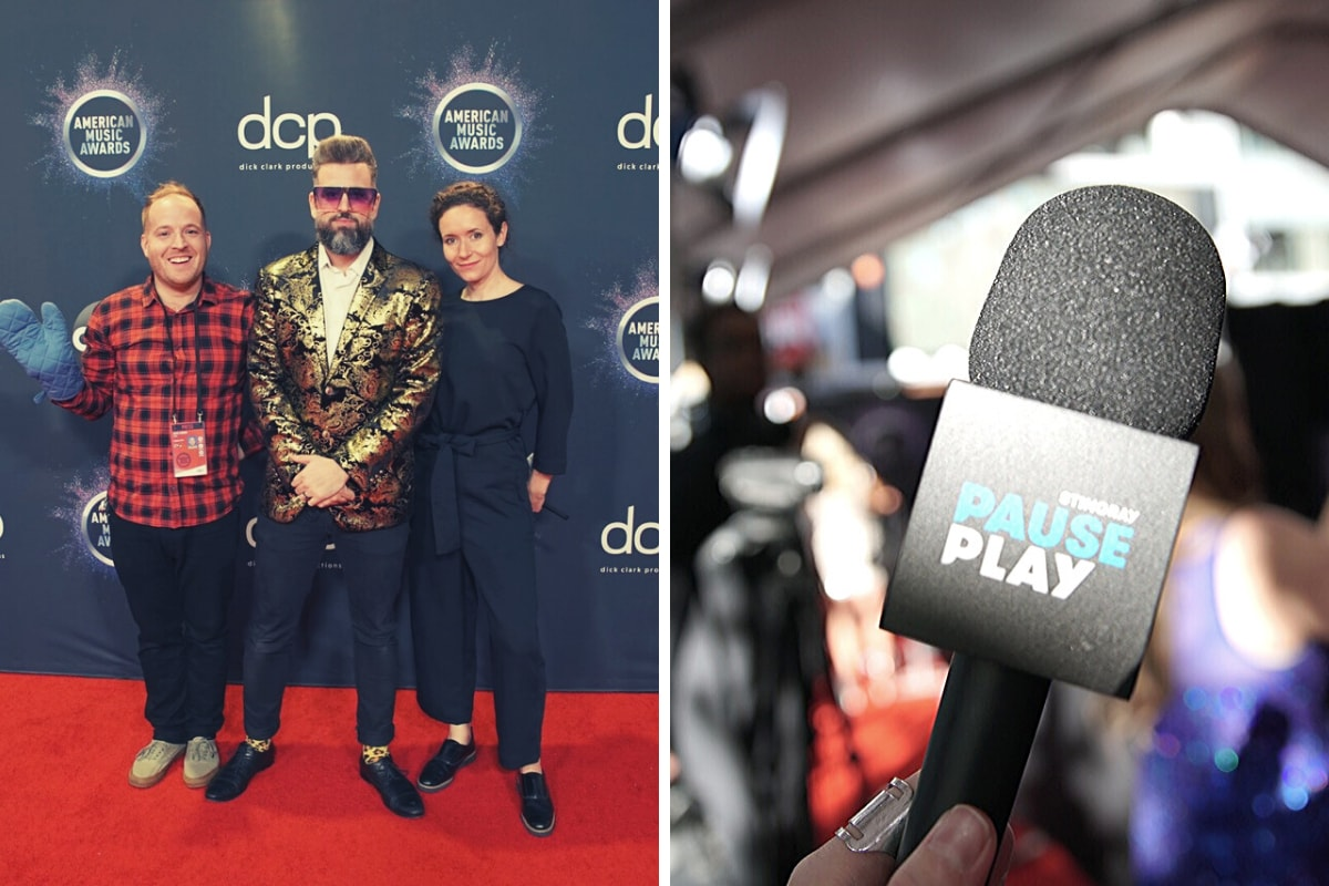 Stingray PausePlay team on the American Music Awards red carpet